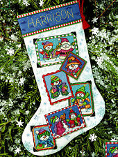 Cross Stitch Christmas STOCKING Kit SNOWMEN SNAPSHOTS Dimensions 2001 Sealed