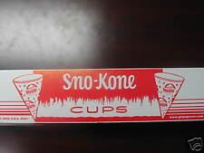 Snow Cone Cups 5 Boxes (200) 6oz Gold Medal 1000 cones