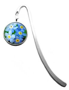 Silver Plated Forget Me Not Photo Bookmark