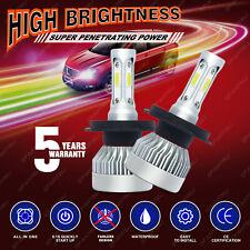 Pair H4 HB2 9003 1710W 256500LM CREE COB LED Headlight High/Low 6000K Bulb Power