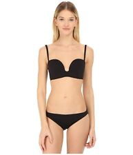 NWT PROENZA SCHOULER S molded-cup bikini swimsuit black $425 two piece designer