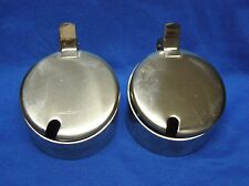2 For Mil. Inox/Stainless Steel Condiment Pots Thick 19/10 Chrome-Nickle Alloy