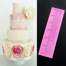 3D Lace Flower Silicone Fondant Mat Cake Decorating Baking SugarCraft Mould Tool