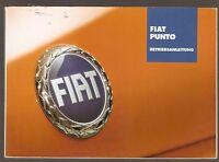 deutsche Betriebsanleitung Fiat Punto Handbuch Ausgabe 8/2003