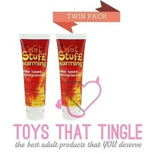 Twin Pack Warming Lube Lubricant Wet Stuff 100g x 2