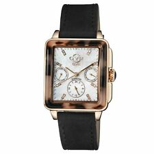 Gv2 By Gevril Women's 9225.3 Bari-Tortoise Diamond MOP Dial Black Suede Watch