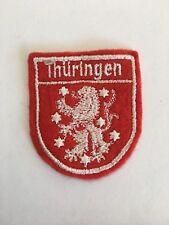 Vintage German Souvenir Patch Thuringen Germany