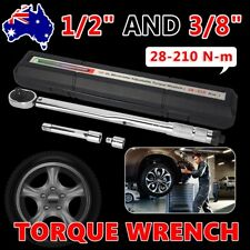 """3Pc 1/2"""" & 3/8"""" Drive Torque New Ratchet Wrench Micrometer 28-210nm Adjustable"""