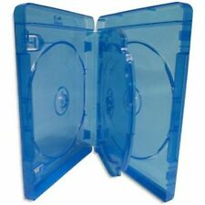 10 Blu ray 4 Way Cases 25mm Spine Holding 4 Disks New Replacement Amaray Cover