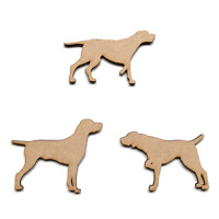 Wooden MDF Dog Craft Shapes Embellishments Pointer Dog Labrador Retriever