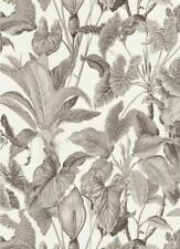 Erismann Jungle Wallpaper White Grey Leaf Floral Tropical Paste Wall Vinyl