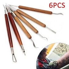 6pcs Clay Sculpting Set Wax Carving Pottery Tools Shapers Polymer Modeling UK