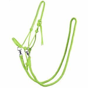 White Horse Equestrian Jenny Natural Horsemanship Rope Halter Training Rein Set