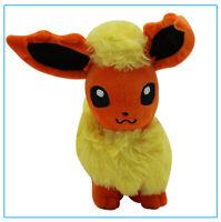 Pokemon Flareon Evolution Fire Eevee Figure Plush Toy Stuffed Doll 7'' Kids Gift