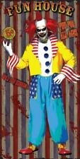 FUN HOUSE SCARY BLOODY CLOWN DOOR COVER HALLOWEEN PARTY DECORATION FW9342F