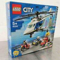 LEGO City Police Helicopter Chase Toy ATV 60243 Motorbike Truck Building Set