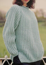 "#111 Ladies Lacy DK Twinset /& Sweater Vintage Knitting Pattern 32-42/"" 81-106cm"