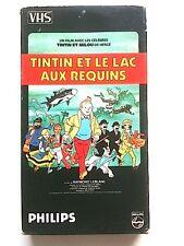 VHS - TINTIN ET LE LAC AUX REQUINS - Hergé - Très bon état