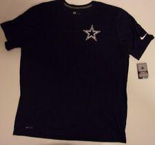 New Nike Dallas Cowboys NFL Football Dri-Fit t-shirt men's XXL 2XL Navy Blue