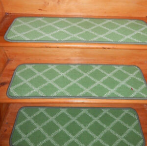 13 Step 9'' x 30'' + 1 Landing 27'' x 30'' Tufted Wool Woven carpet Stair Treads