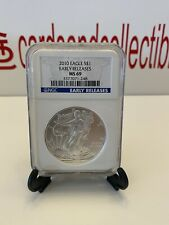 💎2010 American Silver Eagle - Early Releases - Graded NGC MS69📈🔥NEW NO RESRV!