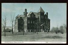 1909 Postcard I.O.O.F. Orphan's Home Lincoln IL Illinois B4223