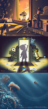 Tom Miatke Pixar - Toy Story, Monsters Inc, Finding Nemo - Matching Poster Set