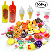 Kids Toy Pretend Role Play Kitchen Pizza Food Cutting Sets Children Gift
