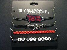 MY CHEMICAL ROMANCE 4 BRACELET SET cord merch tour black parade danger days