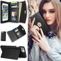 Women's Phone Wallet Card Case Multi-purpose Leather Clutch Handbag Purse Cover