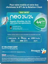 Publicité Advertising 2011 - BOUYGUES Telecom - (Advertising paper)