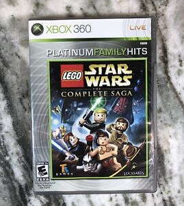 LEGO Star Wars:The Complete Saga (Microsoft Xbox 360, 2007) Platinum Family Hits