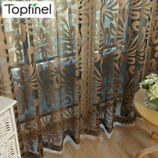Sheer Curtain Panels Living Room Bedroom Kitchen Window Treatments Geome Modern