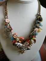 Vintage Upcycled  Artisan Statement Fabulous unique Necklace
