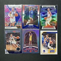 2019-20 Jordan Poole Prizm Color Lot (6) #272 Warriors Red White Blue Pink Camo