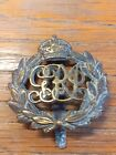INDIAN EXPEDITIONARY FORCE CAP BADGE IN BRASS ON SLIDER KINGS CROWN