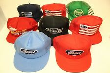 Vintage Collection Ford Chevrolet Quaker State Auto Baseball Caps Hats 80's Rare