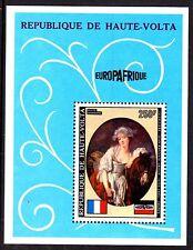 Upper Volta / Burkina Faso - 1973 Europafrique / Paintings - Mi. Bl. 12 MNH