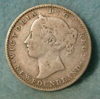 1890 Newfoundland Canada Silver 10 Cents KM# 3 Better Grade Canadian Coin #4366