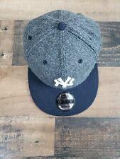 New York Yankees NYY MLB Authentic New Era 9FIFTY Snapback Cap - Hat Gray&Black