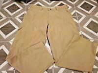 Columbia Sportswear Men's Tan Khaki Pants Sz 36 x 32 Flat Front Snap Chino Cargo