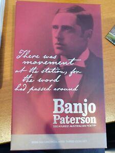 2020 BANJO PATERSON FOLDER SET OF 3 X 50c CENTS UNC COINS ON CARDS IN FOLDER