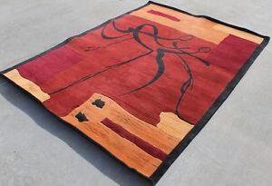 R18142 Exclusive Contemporary Tibetan Woolen Rug 5' x 8' Handmade in Nepal