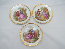 Limoges Small Portrait Plates Signed