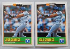 1993 Duracell Batteries Jose Canseco Texas Rangers Baseball Card Lot of 2