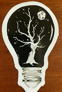 Lightbulb Sticker Abstract Tree With Moon ART - Buy Any 4 for $1.75 Each Storewi