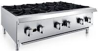 "Chef's Exclusive 36"" 6 Burner Commercial Countertop Hot Plate 150,000BTU LP GAS"