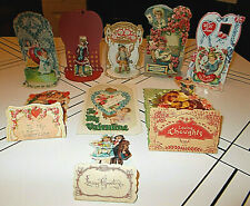 9~Orig.1910/20'S Vtg/Ant German Die-Cut 3-D Valentine'S Day Cards