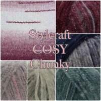 Stylecraft COSY Chunky Soft Acrylic Alpaca Metallic Yarn 100g