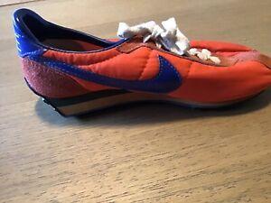 Vintage Nike Waffle Trainer Shoe Left Only Size 5 Orange & Blue Taiwan